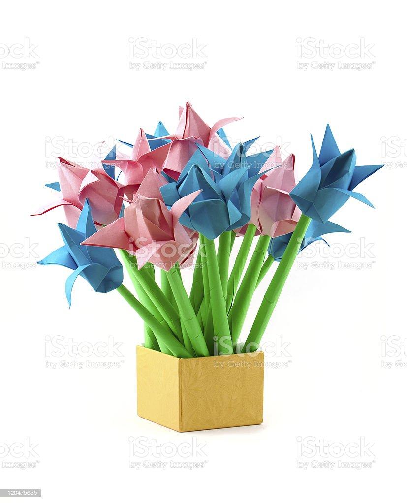 Paper tulips stock photo
