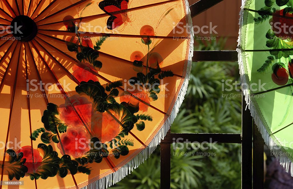 Paper Umbrella royalty-free stock photo