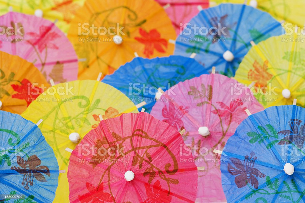 Paper Umbrellas royalty-free stock photo