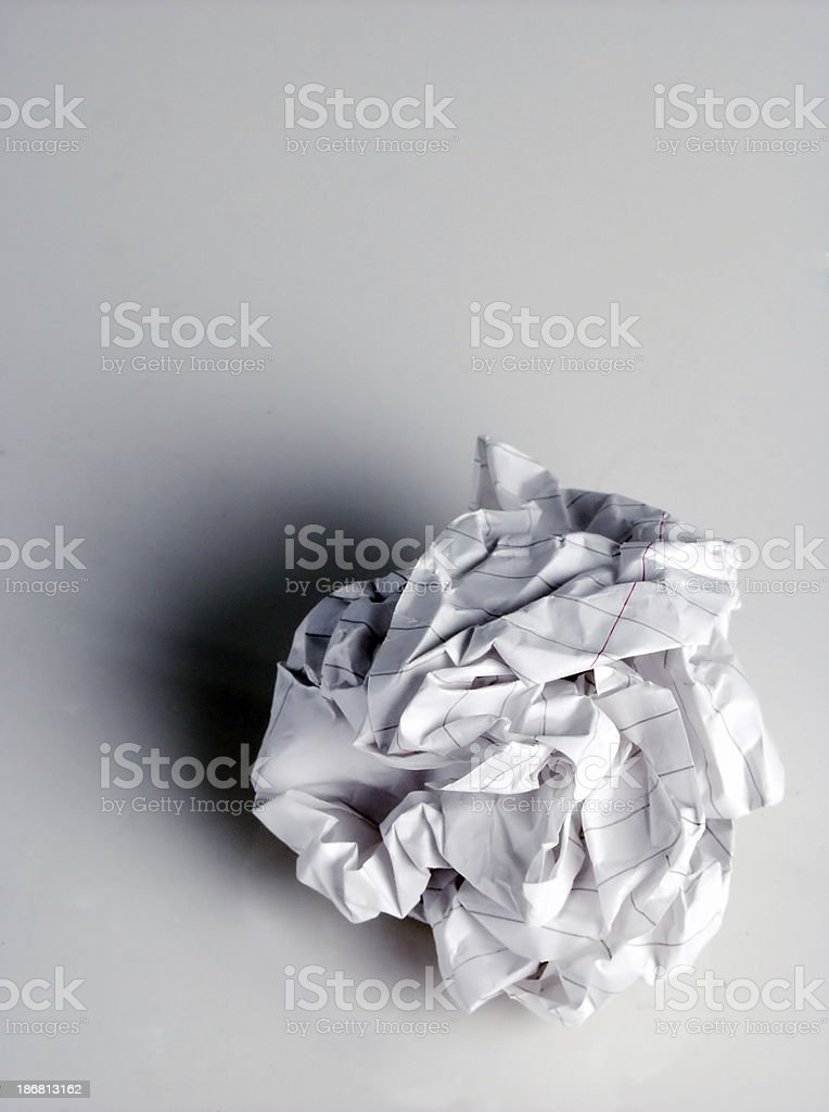 paper wad royalty-free stock photo