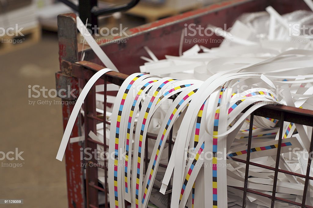 Paper Waste... stock photo