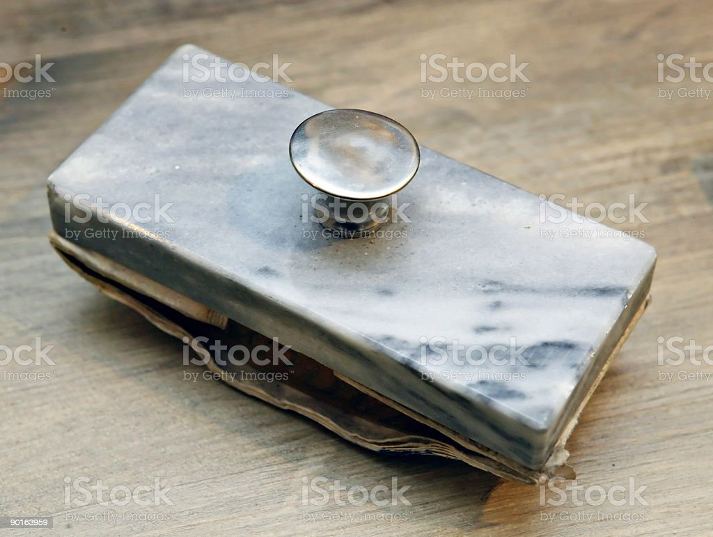 Paper weight stock photo