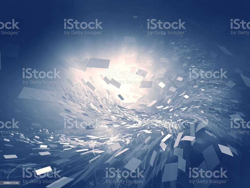 paper whirlwind stock photo