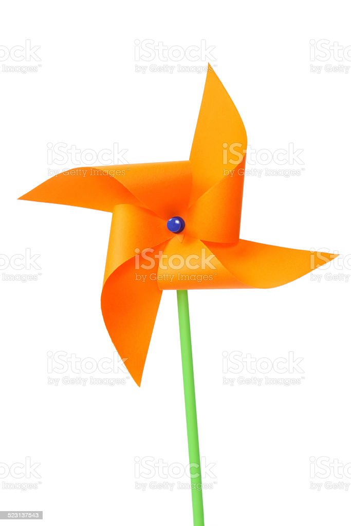 Paper Windmill stock photo