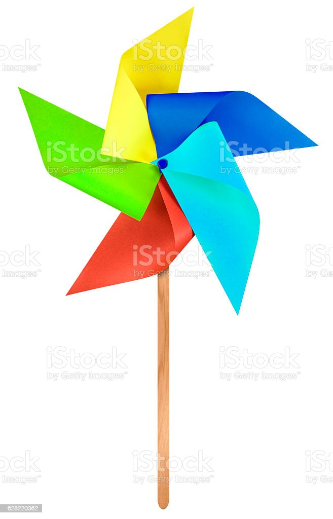 Paper windmill pinwheel - Colorful stock photo