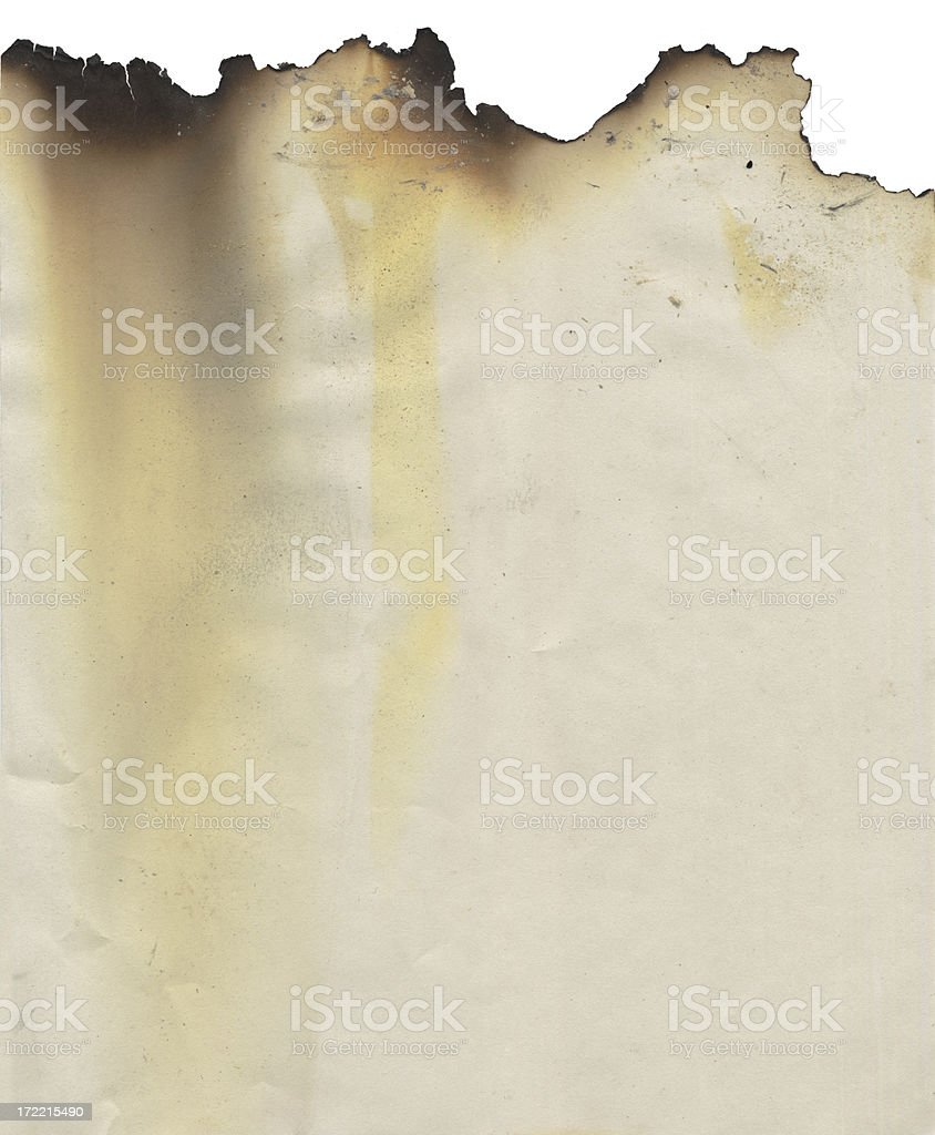 Paper with a burnt edge stock photo