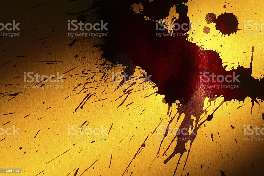 Paper With Blots royalty-free stock photo