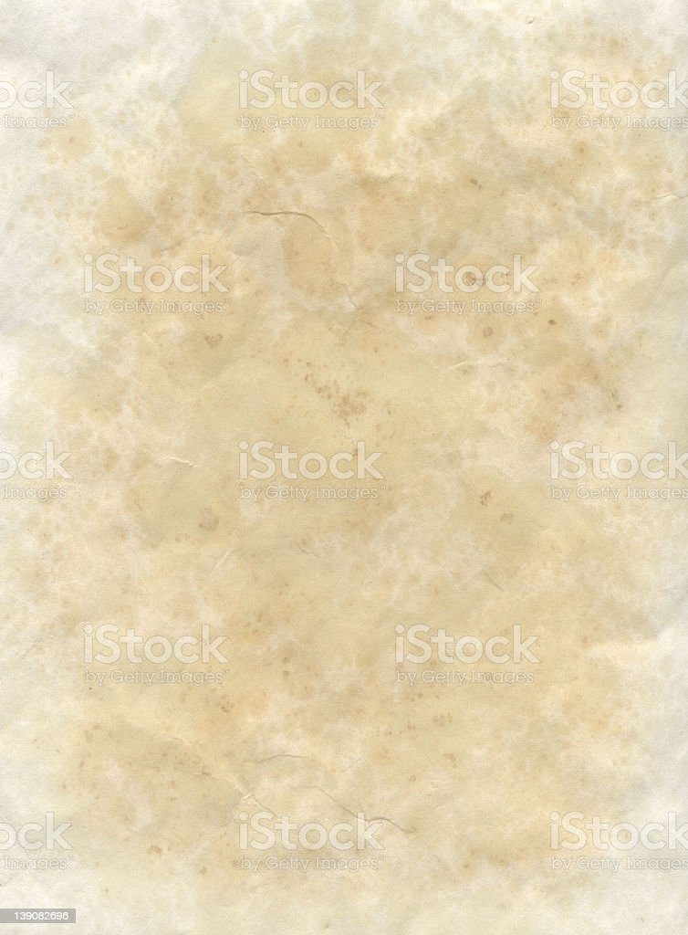 Paper with brown toned staining stock photo