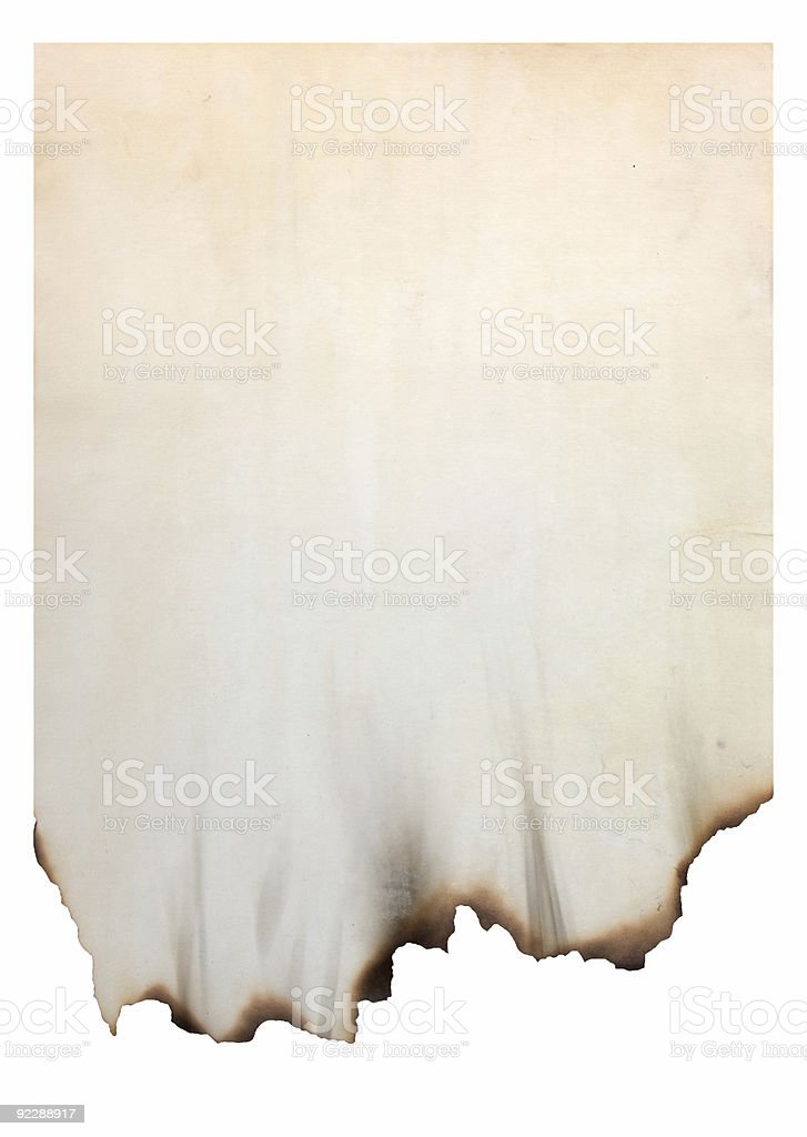 paper with burnt edges stock photo