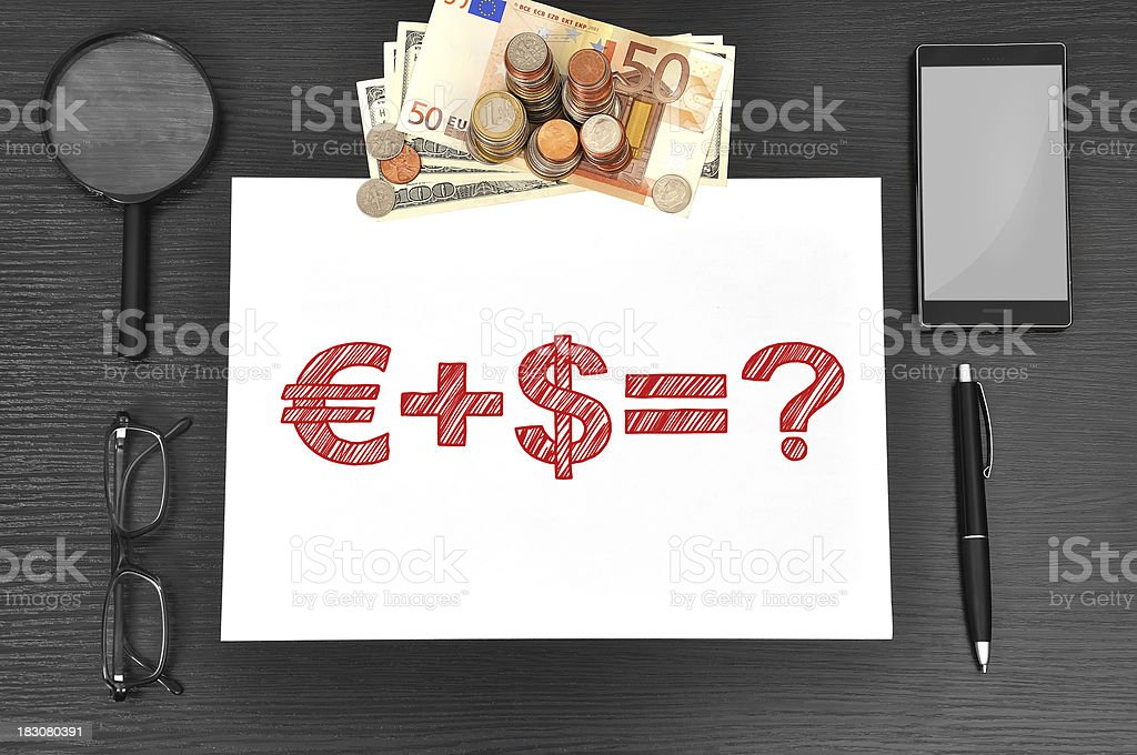 paper with business formula royalty-free stock photo