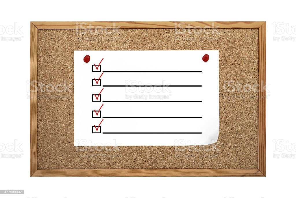 paper with  check boxes royalty-free stock photo