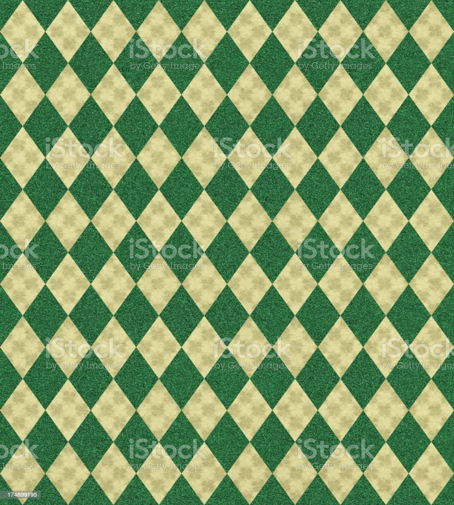 paper with clover and diamond patterns royalty-free stock vector art