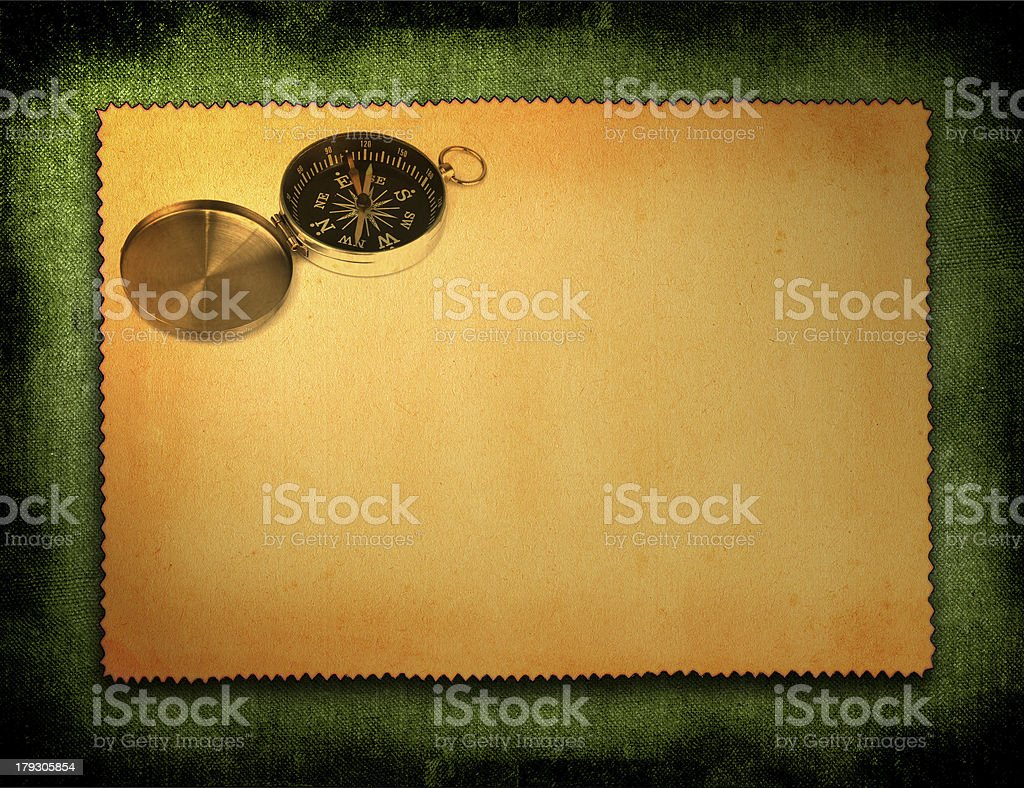 paper with compass motif royalty-free stock photo
