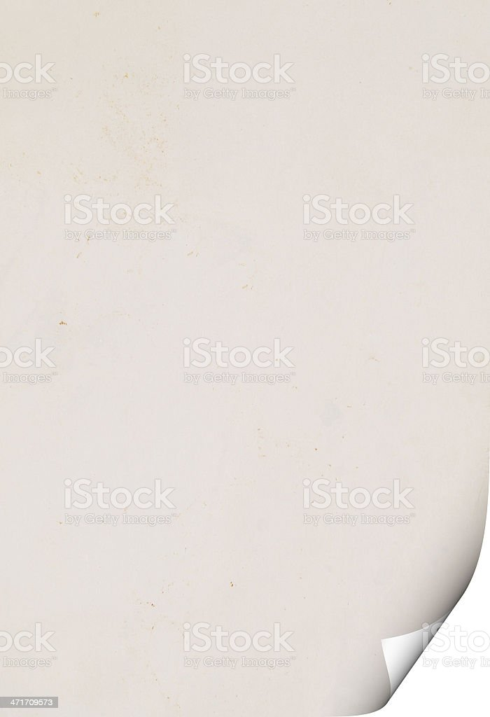 paper with curl royalty-free stock photo