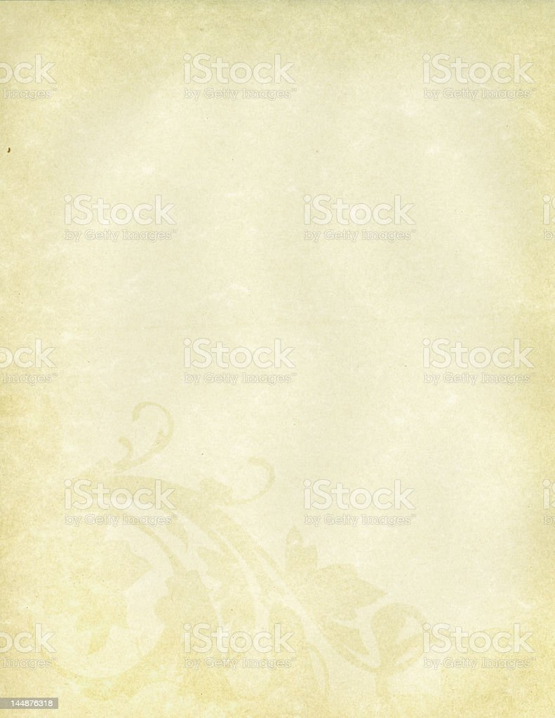 paper with flourish royalty-free stock photo