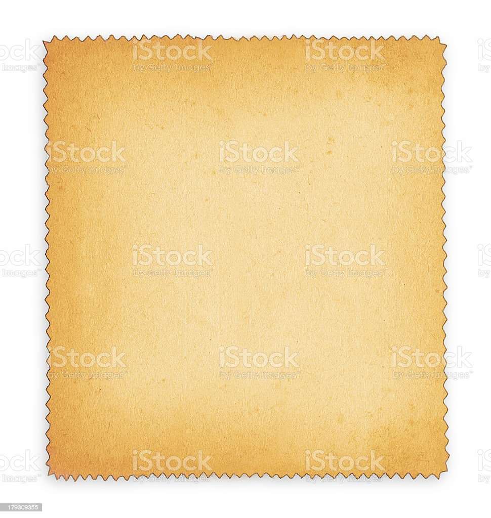 paper with frill edge royalty-free stock photo