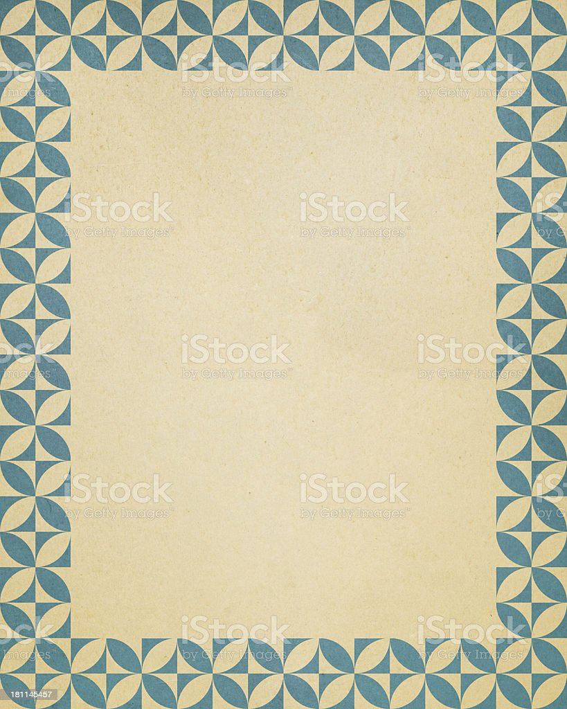 paper with geometric frame pattern royalty-free stock photo