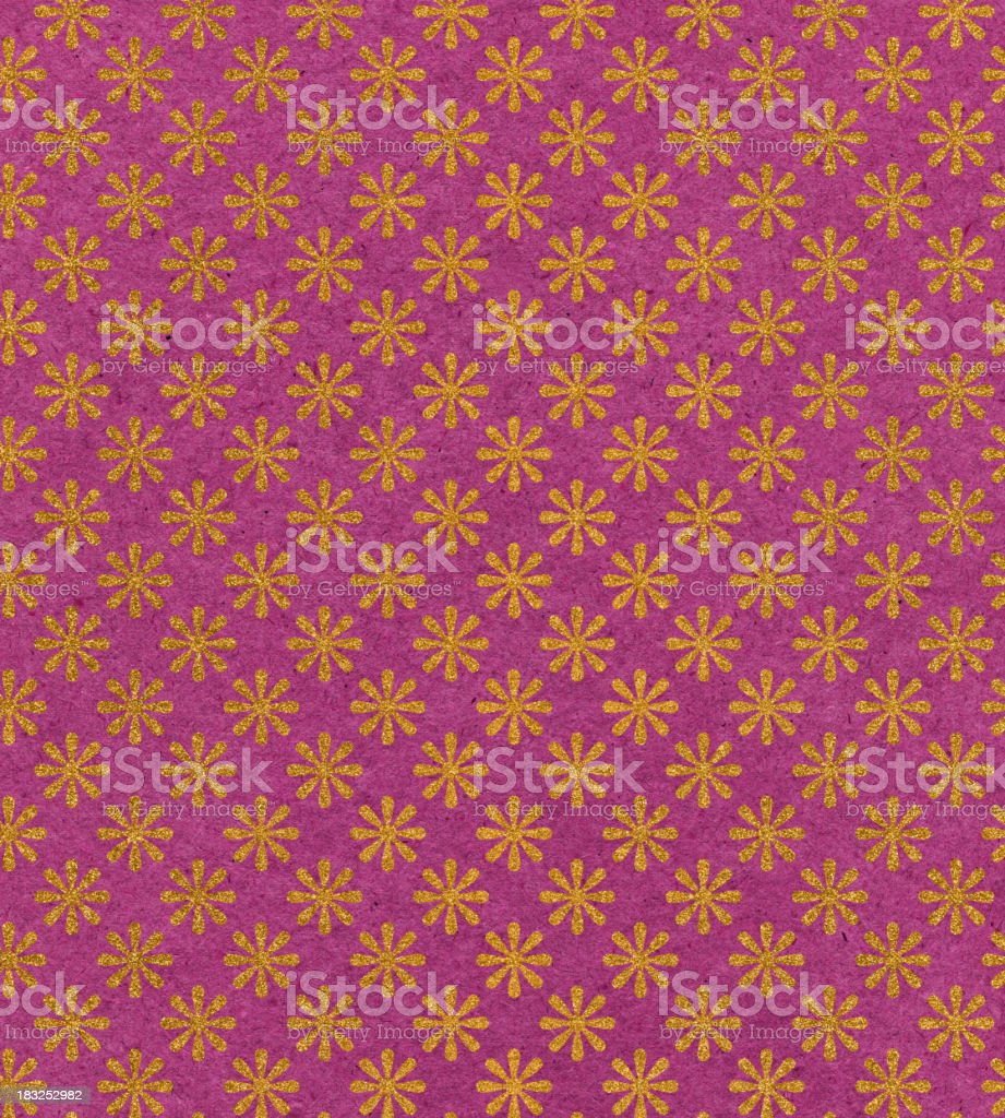 paper with glitter flower pattern royalty-free stock photo