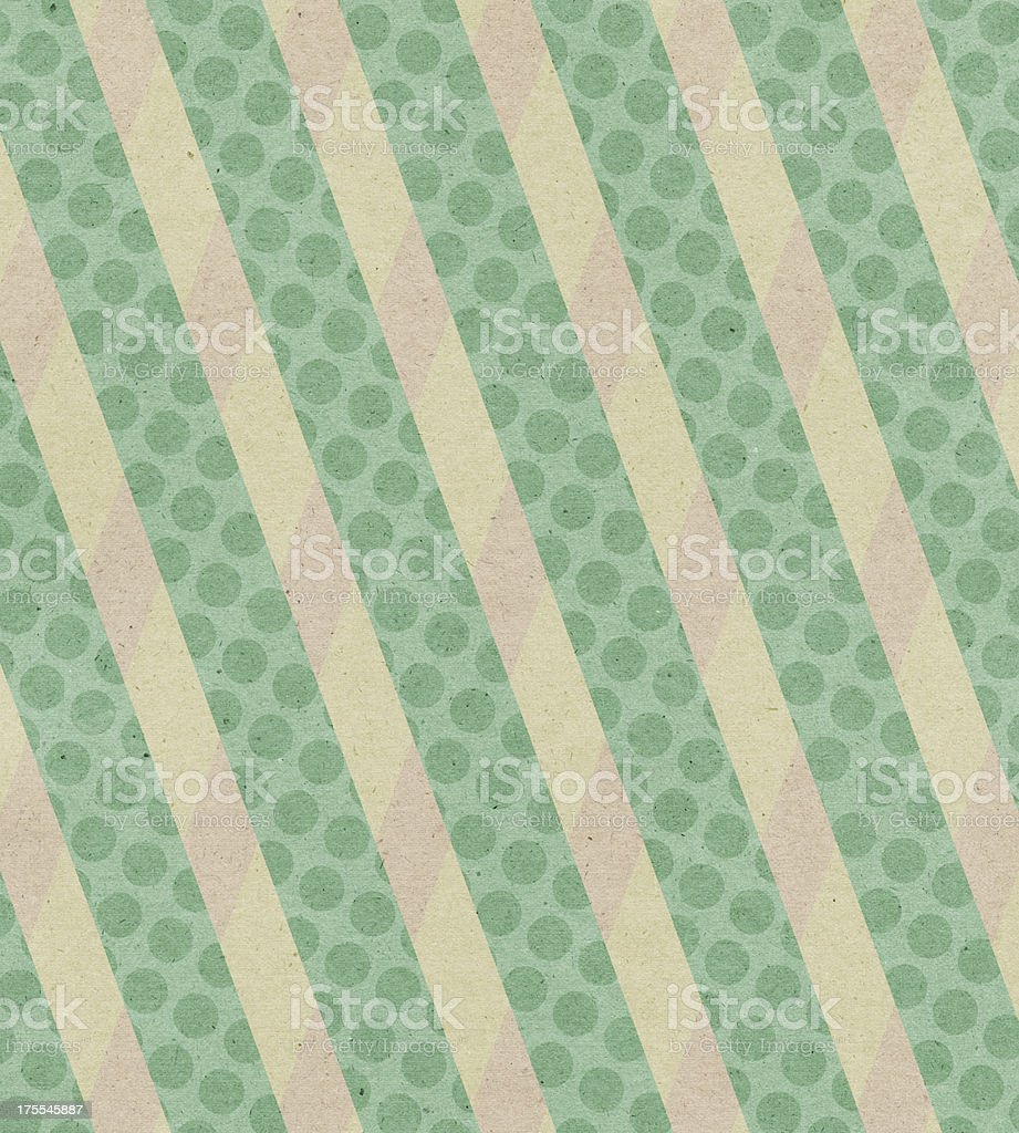 paper with green polka dot stripe royalty-free stock photo