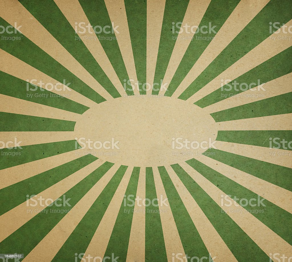 paper with green sunbeam pattern royalty-free stock photo
