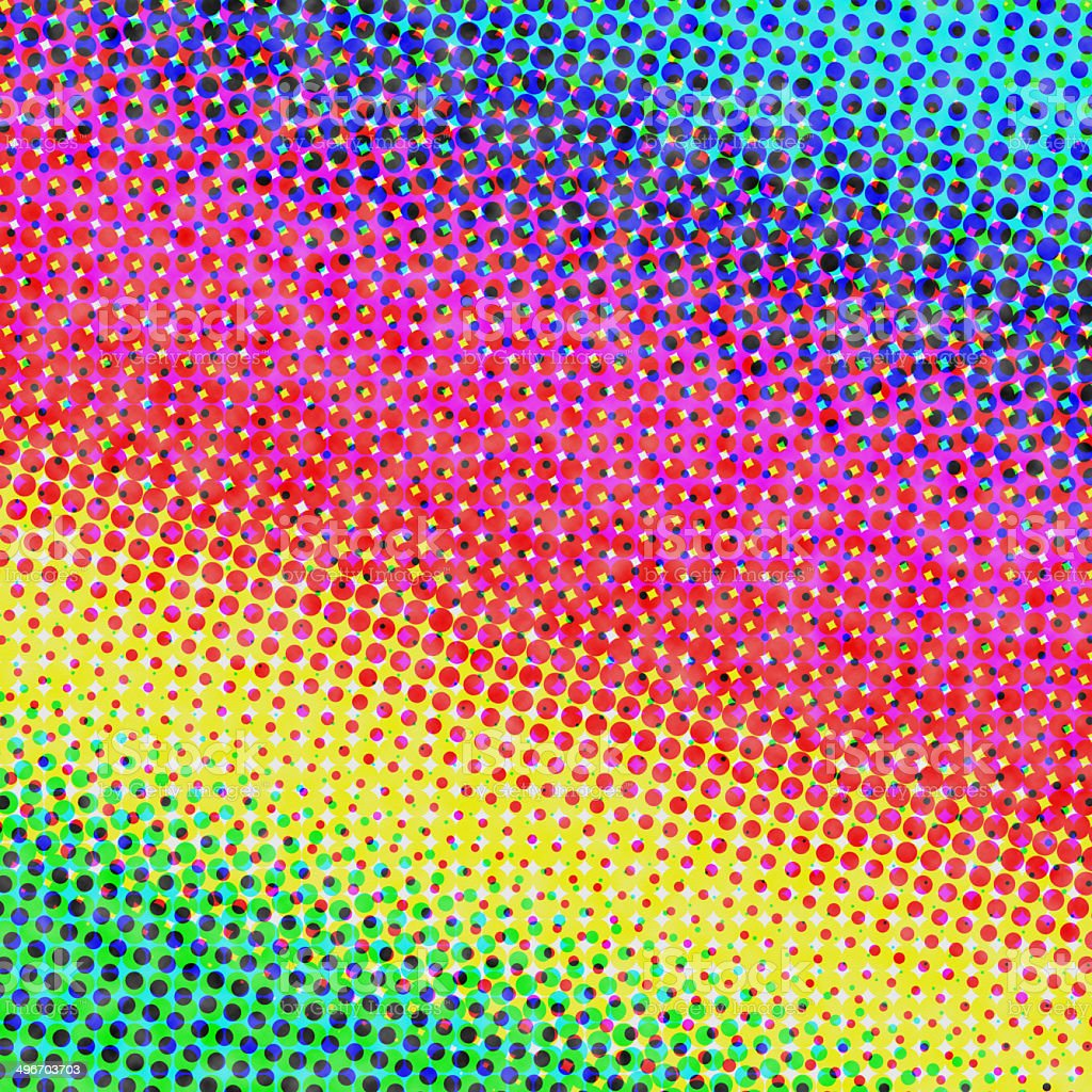 paper with halftone color gradient vector art illustration