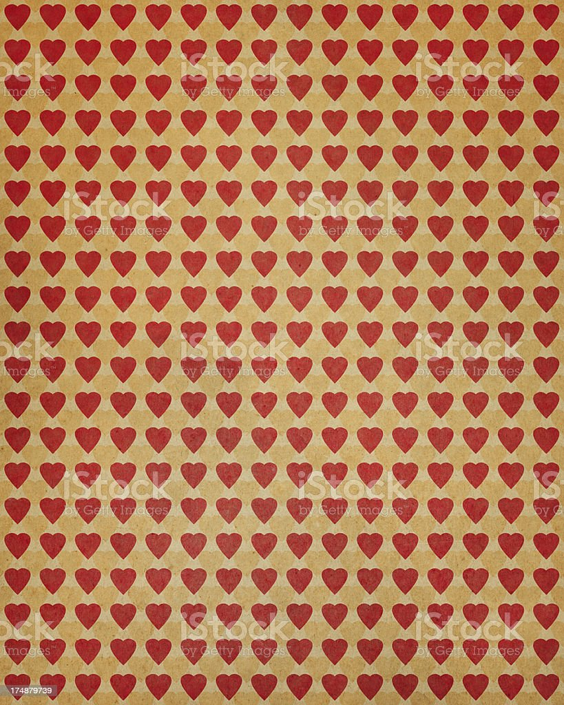 paper with heart shape pattern royalty-free stock photo