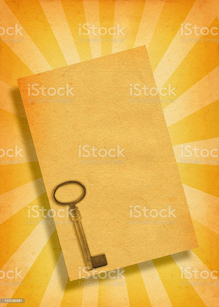paper with key motive royalty-free stock photo