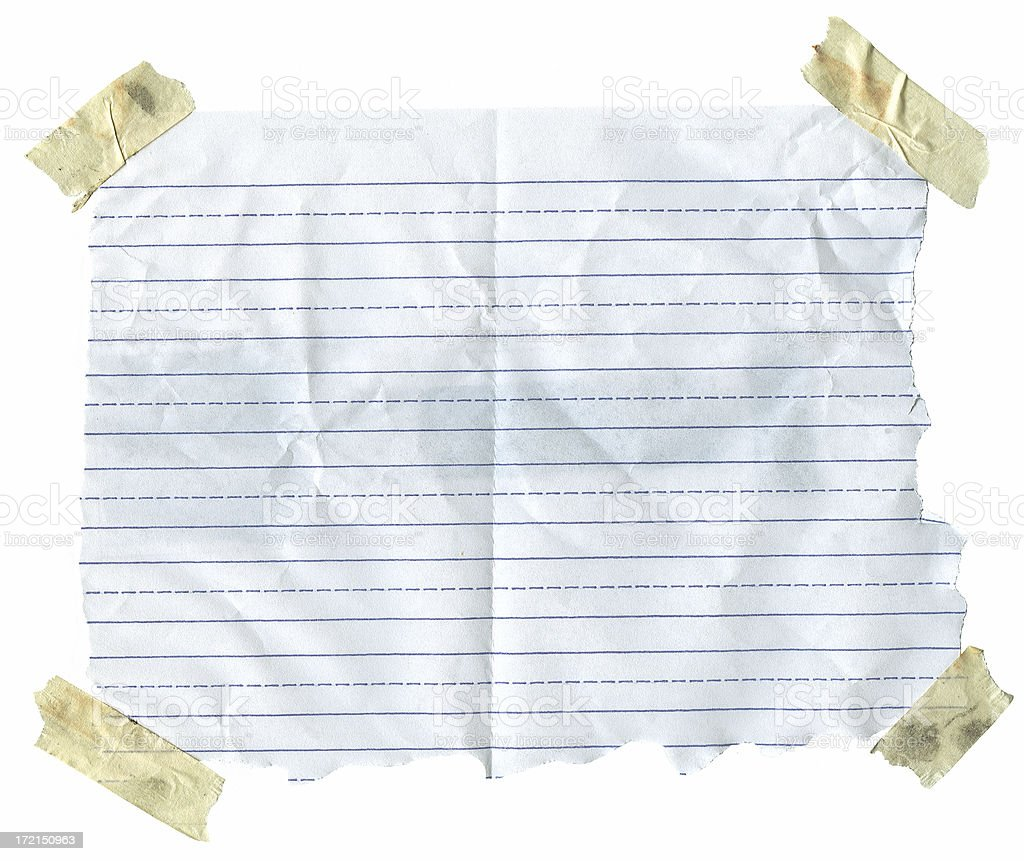 Paper with Masking Tape (100% View) royalty-free stock photo