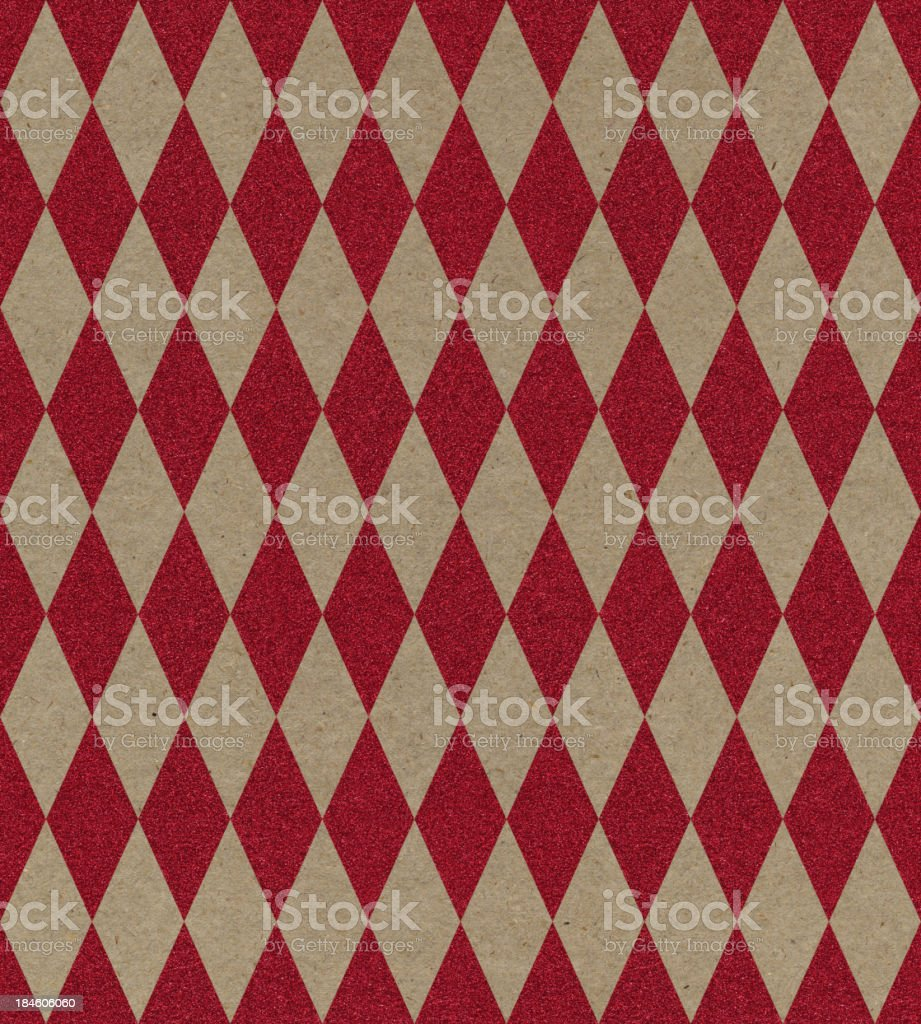paper with red glitter diamond pattern stock photo