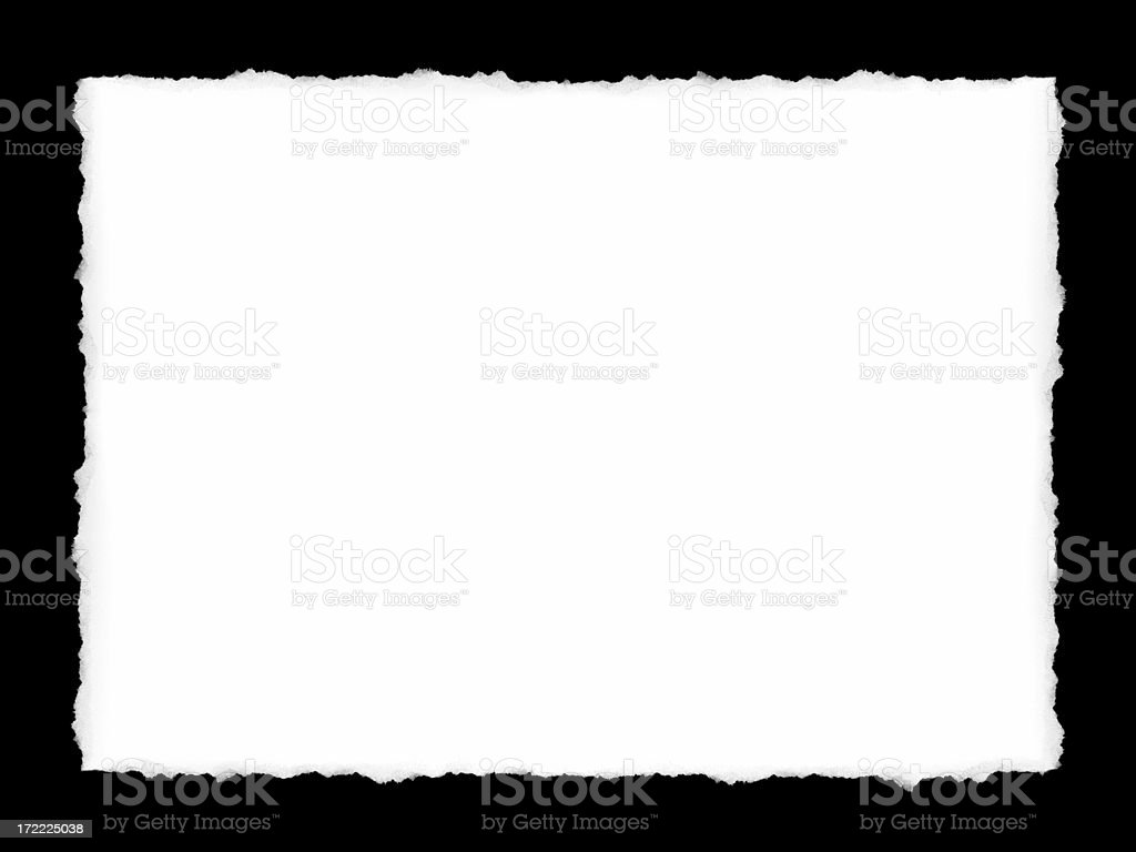 Paper with Ripped Edges (XXL) stock photo