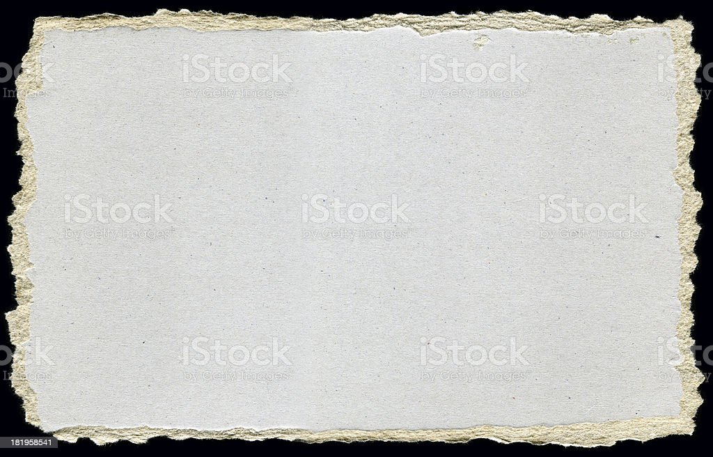 Paper with Ripped Edges royalty-free stock photo