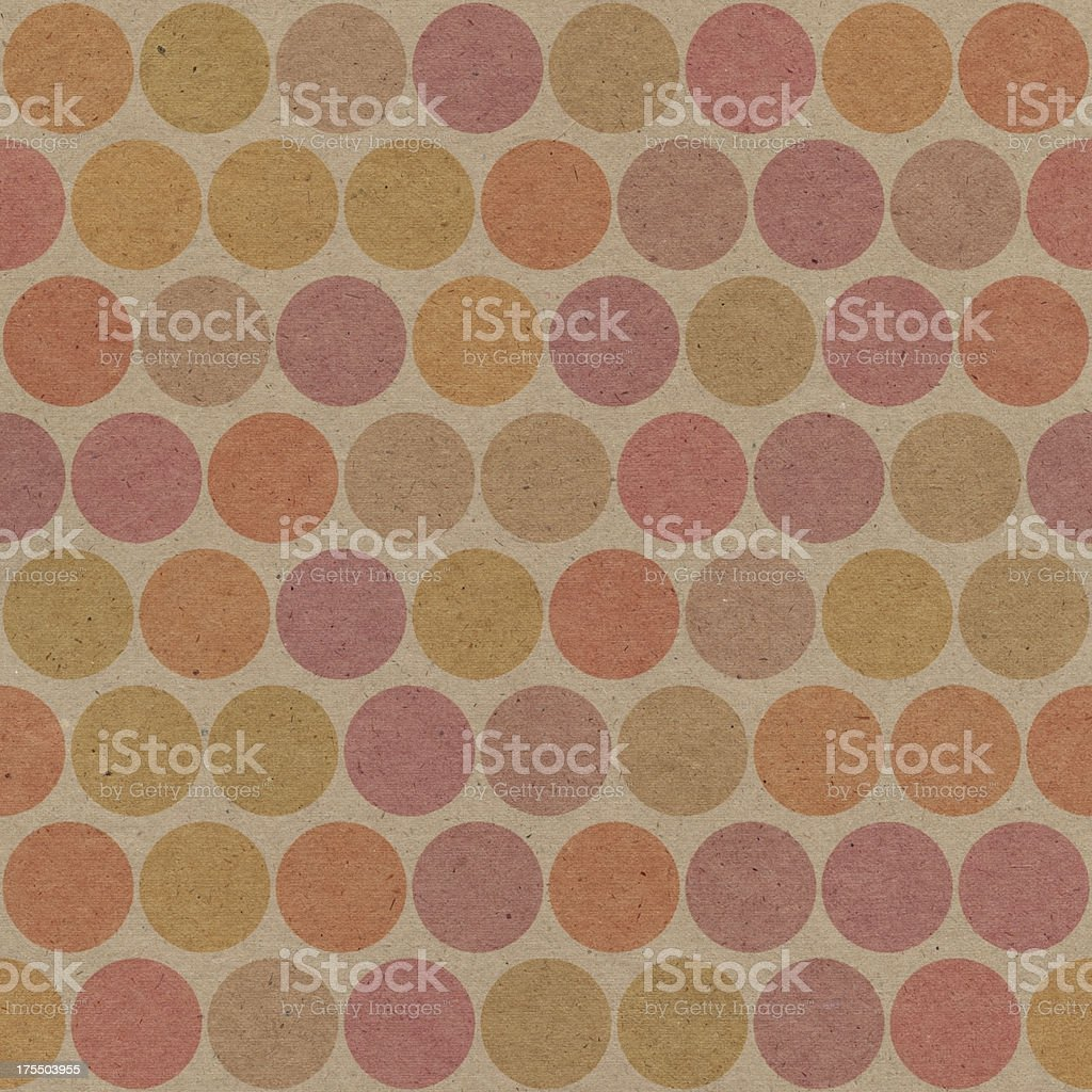 paper with seamless brown dots royalty-free stock photo