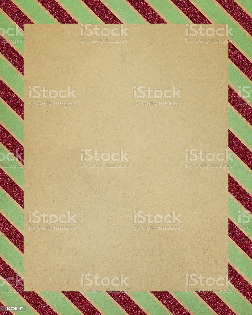 paper with striped glitter border royalty-free stock vector art