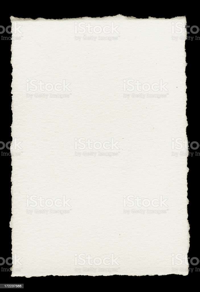 Paper with Torn Edges stock photo