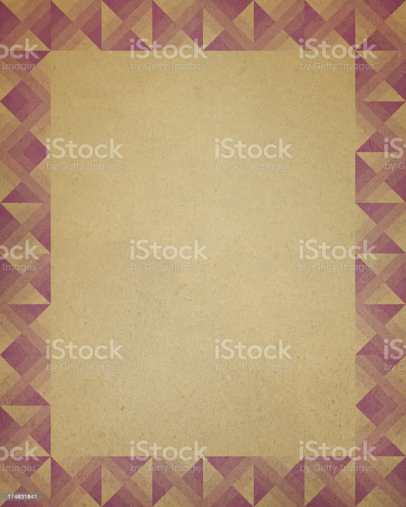 paper with triangle border pattern royalty-free stock photo