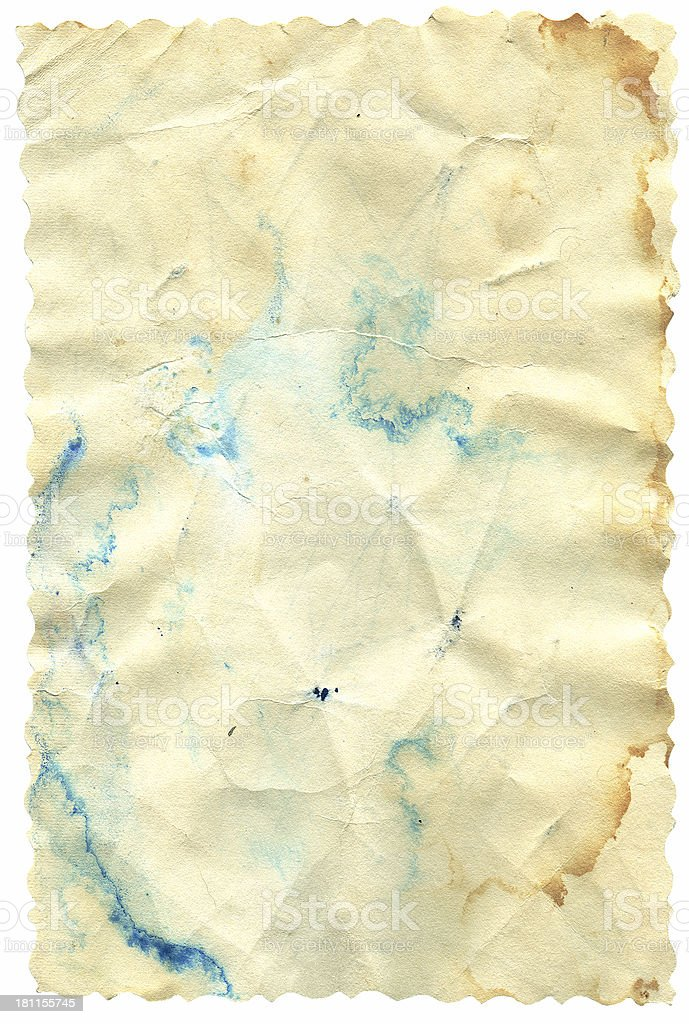 Paper with Wavey Edges royalty-free stock photo
