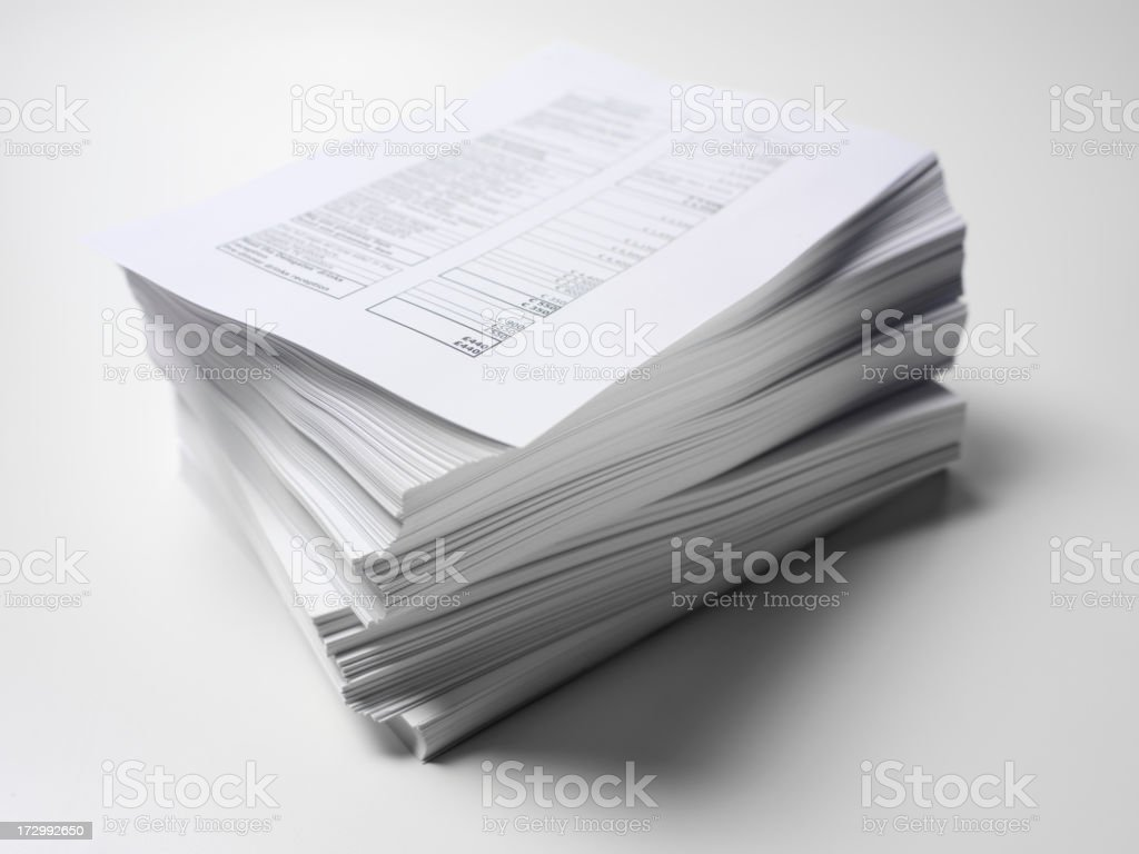 Paper Work in Order stock photo