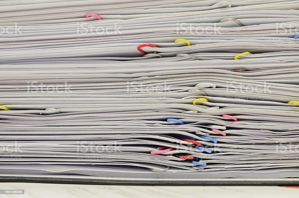Paper work stock photo