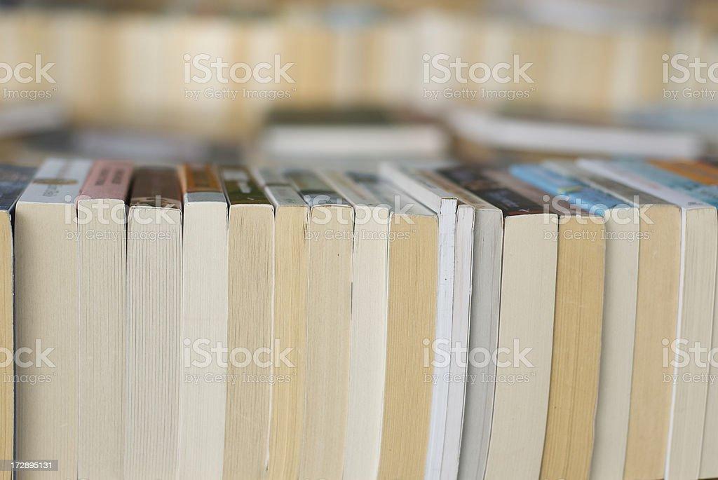 Paperback Books Horizontal Close-Up royalty-free stock photo