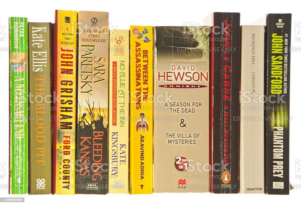 Paperback Books on White royalty-free stock photo