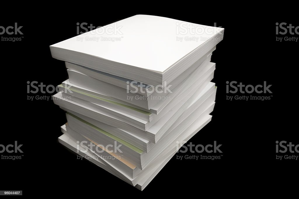 Paperback Books royalty-free stock photo