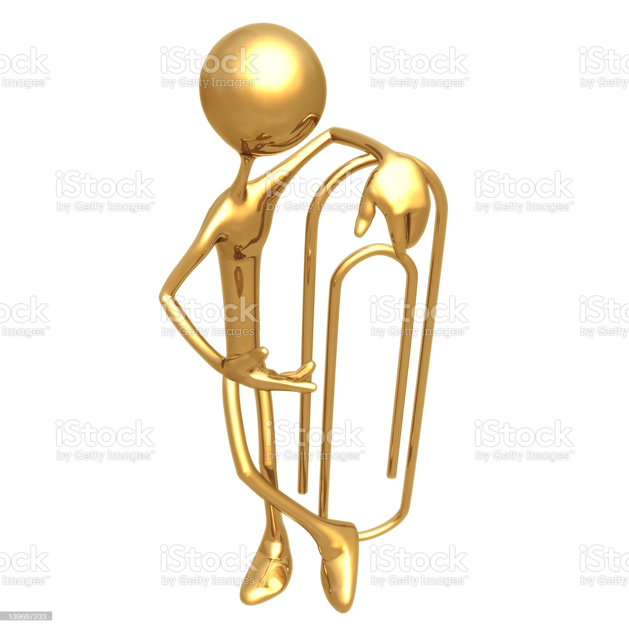 PaperClip 01 royalty-free stock photo