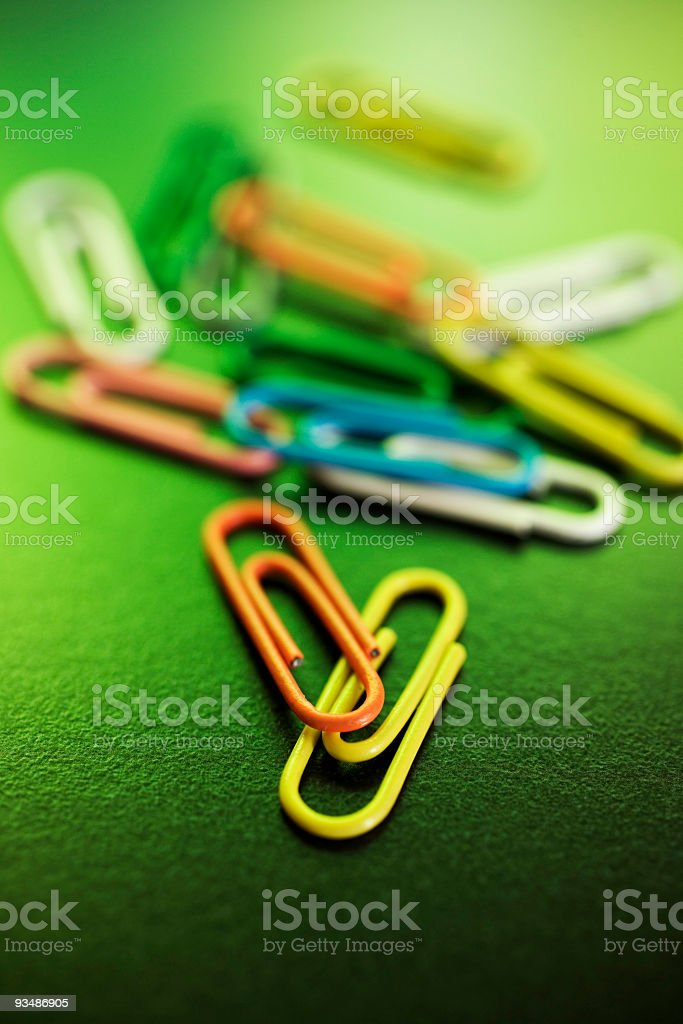 paperclips royalty-free stock photo