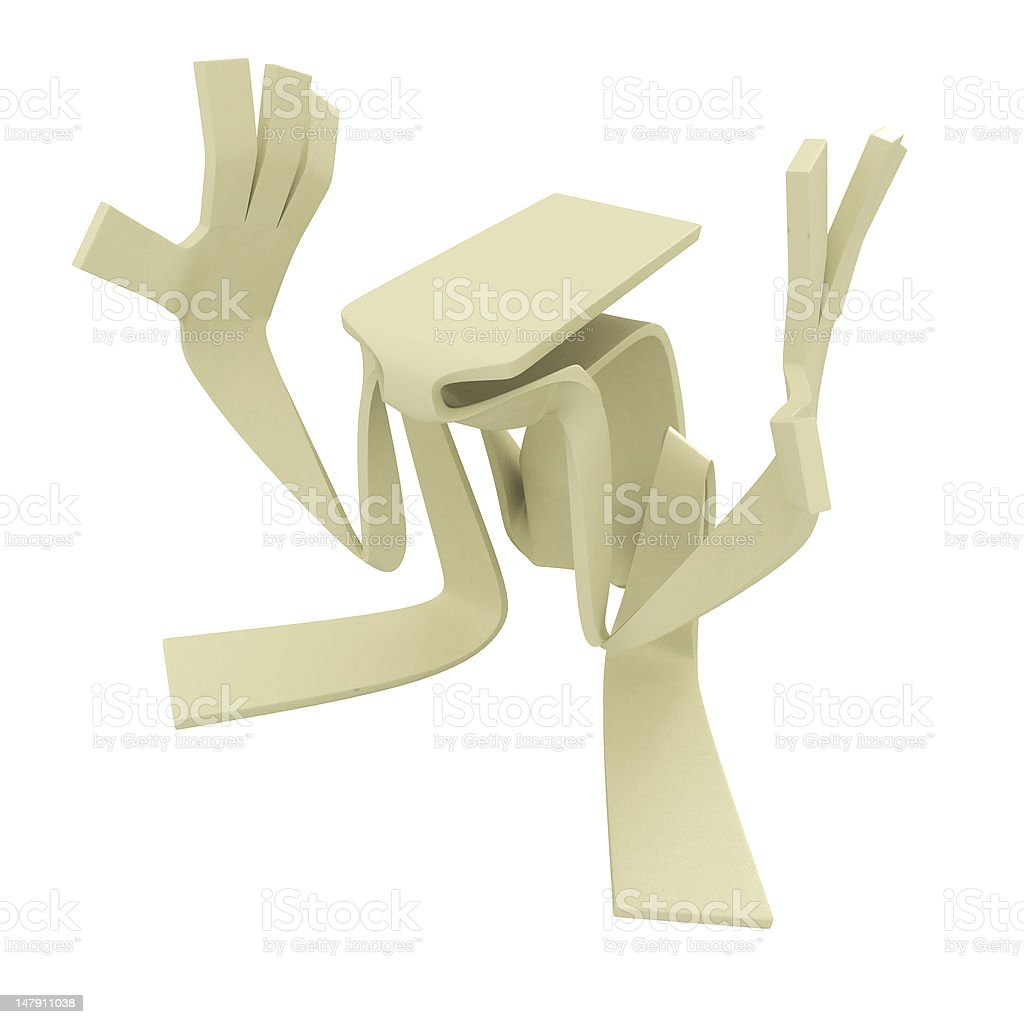 Paperman, Invisible box stock photo