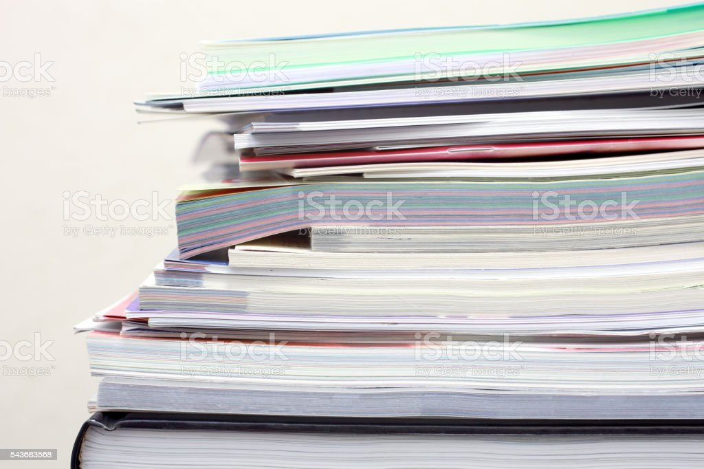 Papers and magazines stock photo