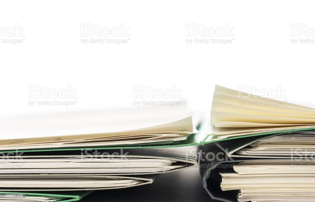 Papers filing. stock photo