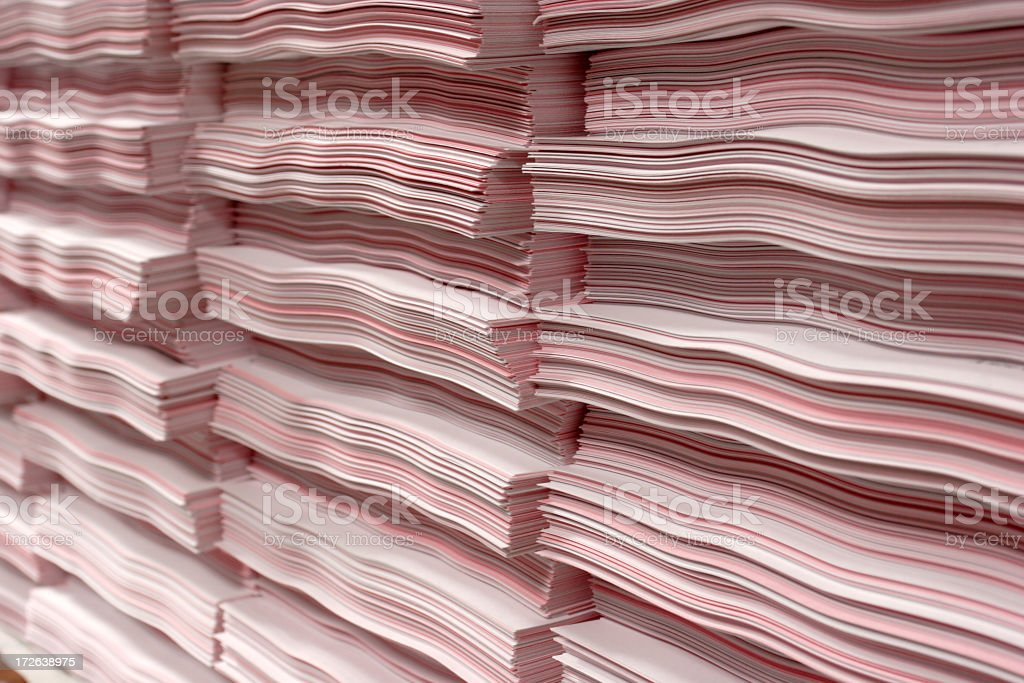 Paperstacks stock photo