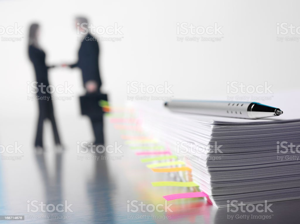 Paperwork Agreement in the Office stock photo