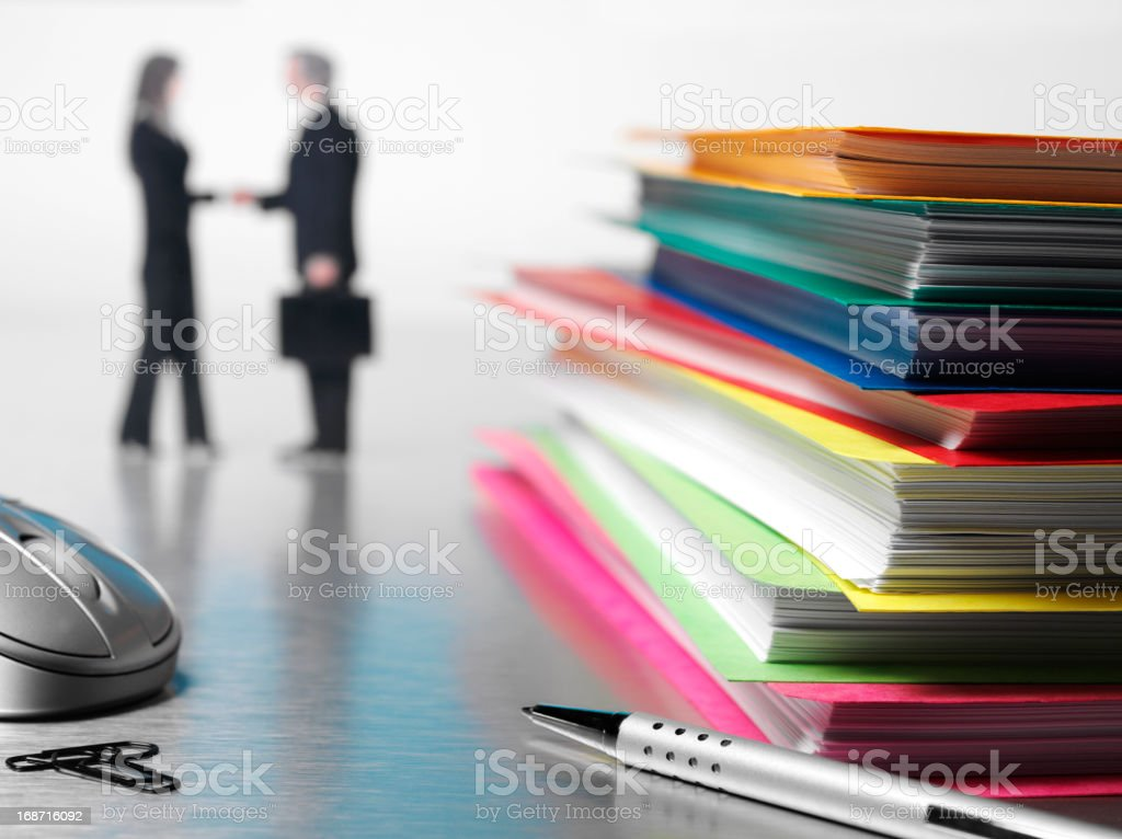 Paperwork and Agreement royalty-free stock photo