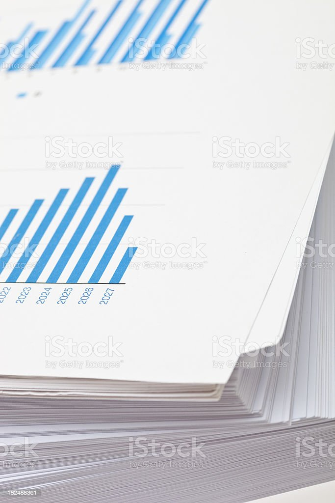 Paperwork and graphs royalty-free stock photo